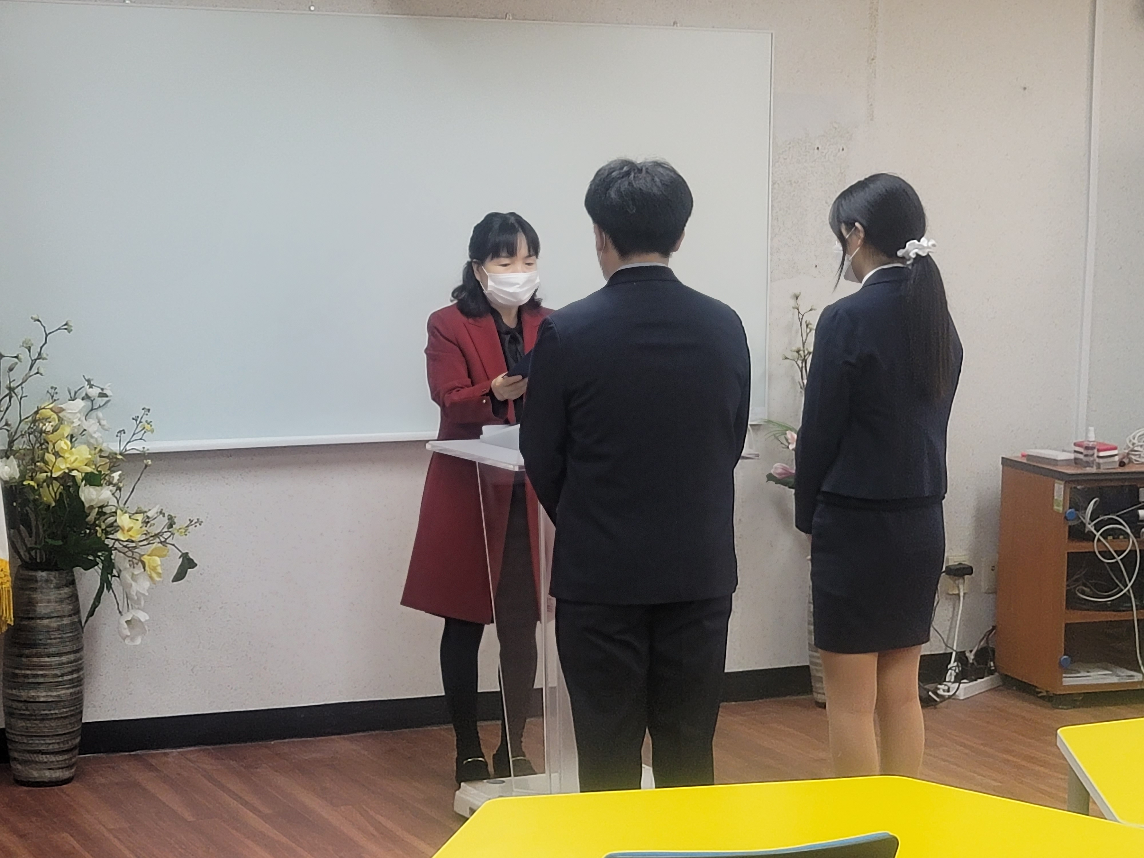 [일반] 2021년 학생자치회장 및 부회장, 학급임원 당선증 수여식의 첨부이미지 5