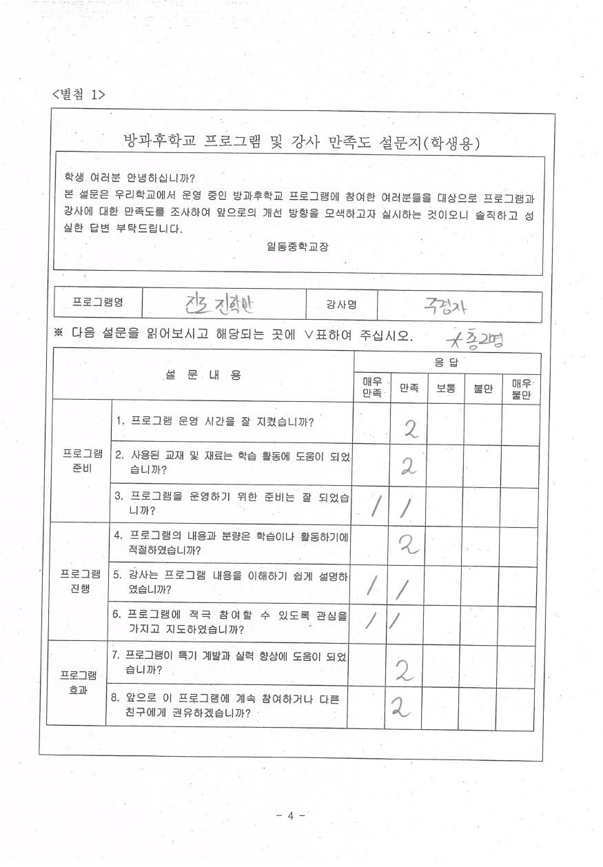 [일반] 2017학년도 일동중 방과후학교 만족도 설문 조사 결과 (2)의 첨부이미지 6